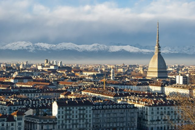 Torino (Turin) panoramic view, Italy