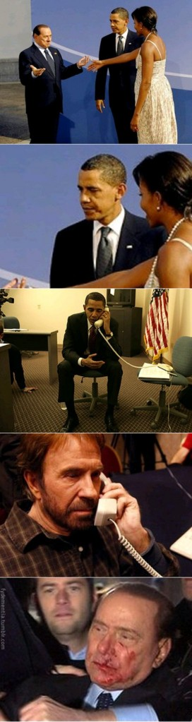 Berlusconi e Chuck Norris